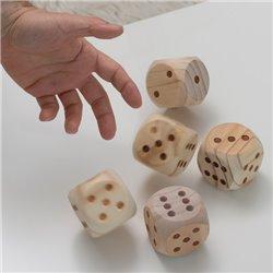 Spiel mit Riesigen Würfeln aus Holz (5 Stück)