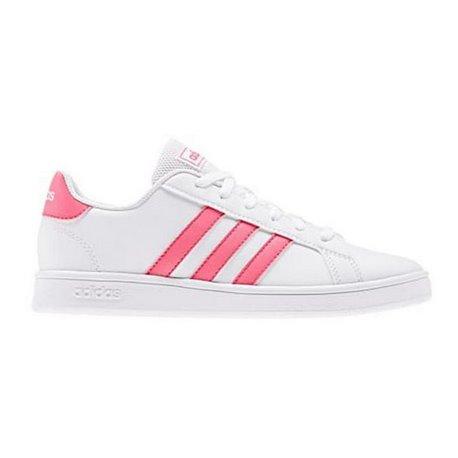 Scarpe da Tennis Casual Bambino Adidas Grand Court K Bianco Rosa 33,5