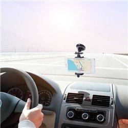 Suporte de Telemóveis para Automóvel com Ventosa 144896 Preto