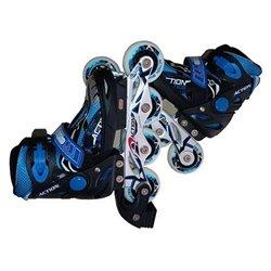 Pattini in Linea Atipick Speeding Per bambini Nero Azzurro 28-31