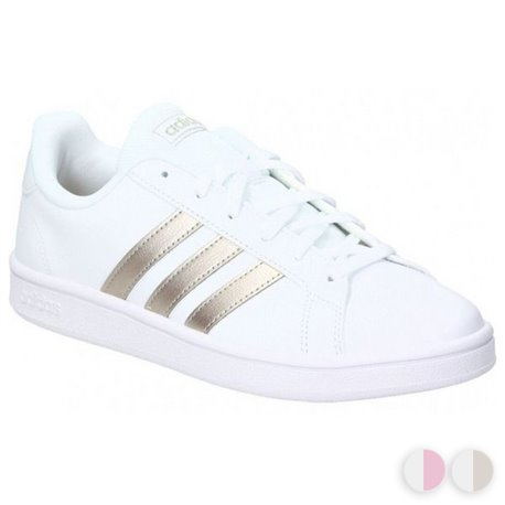 Adidas Women's Casual Trainers Grand Court Base 40 2/3 Blanco/Rosa Casual  trainers