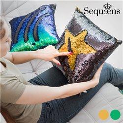 Cuscino Sirena con Federa Magica di Paillettes Sequeens Dorato