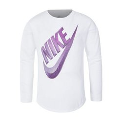 Nike Camiseta de Manga Larga C489S Niña Blanco 3-4 Años