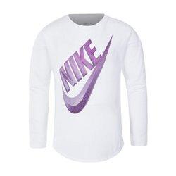 Nike Long Sleeve T-Shirt C489S Girl White 4-5 Years