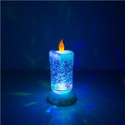 Vela LED Colorida com Líquido e Purpurina em Movimento Homania