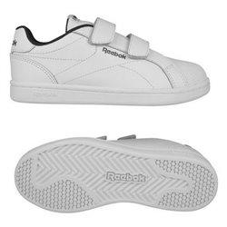 Scarpe da Tennis Casual Bambino Reebok Royal Complete Clean Velcro Bianco 36,5