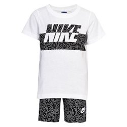 Completo Sportivo per Bambini Nike 926-023 Bianco Nero Taglia - 24 Mesi