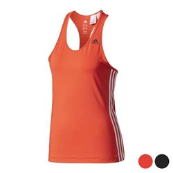 Canotta Donna Adidas D2M Tank 3S Rosso L