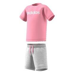 Completo Sportivo per Neonati Adidas I Oin Sum Set Rosa Grigio (9-12 mesi)