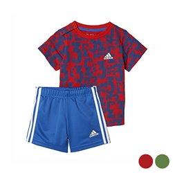 Completo Sportivo per Neonati Adidas I Sum Count Verde 9-12 Mesi