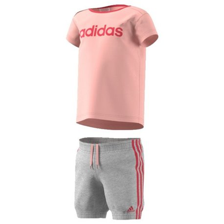 Completo Sportivo per Neonati Adidas I SU Easy G 9-12 Mesi