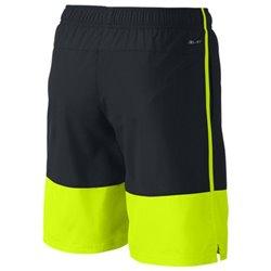 Nike Short de Sport pour Enfants AS YA DISTANCE SHORT YTH Noir Jaune M