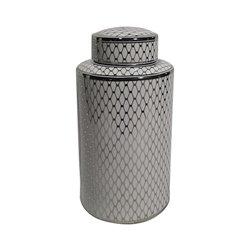 Vaso Geometric Ceramică 18 x 18 x 30 cm