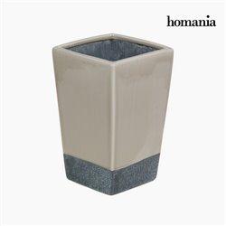 Jarrón cerámica beige y gris by Homania