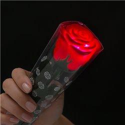 Rosa Vermelha com Luz LED Colorida