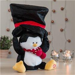 Peluche de Natal com Som e Movimento Pinguim