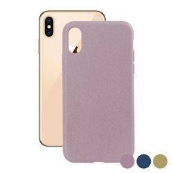 Custodia per Cellulare Iphone Xs Eco-Friendly Azzurro