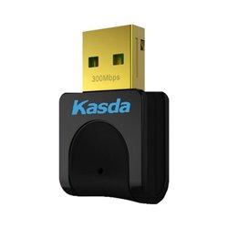 Scheda di Rete Wi-Fi Kasda KW5312 N300 2.4 GHz Nero