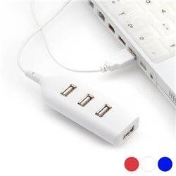 4-Port USB Hub 143898 Red