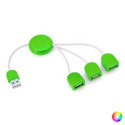 Hub USB 3 Porte 143899 Azzurro