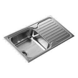 Teka Spülbecken mit einem Becken und Abtropffläche SF 10119013 Edelstahl
