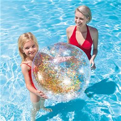 Inflatable Ball with Glitter