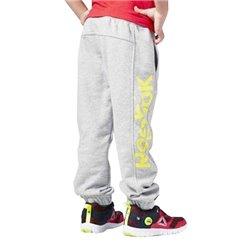 Pantalone Sportivo per Bambini Reebok B ES BL Pant Grigio Giallo L