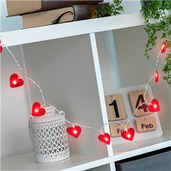 Hearts LED Garland (10 LED Lights)