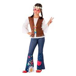 Costume per Bambini 110978 Hippie 7-9 Anni
