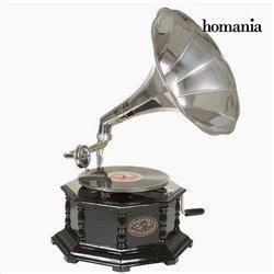 grammofono Octogonal Nero Argento - Old Style Collezione by Homania