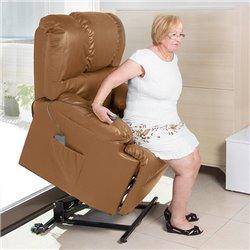 Poltrona Relax Alzapersone con Massaggio Cecotec Camel 6010