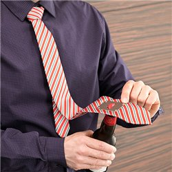 Krawatte mit Flaschenöffner aus Metall