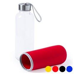 Bottiglia di Vetro con Custodia in Neoprene (420 ml) 145513 Fucsia