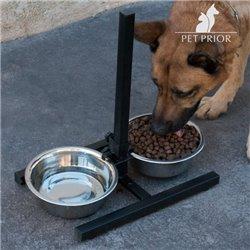 Comedouro para Cães Duplo Regulável Pet Prior