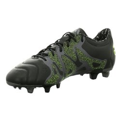 Scarpe da Calcio per Adulti Adidas X 15.2 FG/AG Leather Nero 42,5 (EU) - 8 (UK)