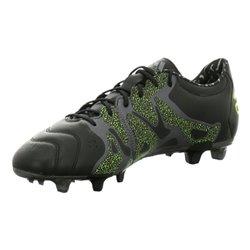 Scarpe da Calcio per Adulti Adidas X 15.2 FG/AG Leather Nero 42,5 (EU) - 8 (UK)