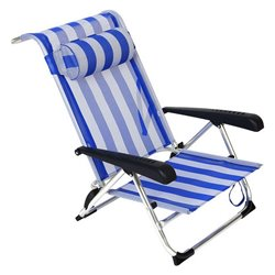 Sedia Pieghevole con Poggiatesta (86 x 60 x 73 cm) Alluminio 119698