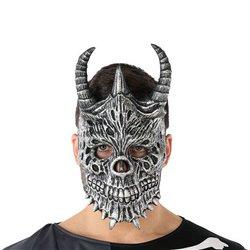Maschera Halloween Demonio Scheletro Grigio (20 X 33 cm)