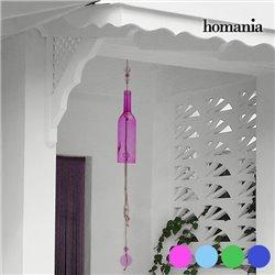 Homania Crystal Bottle Wind Chime Blue