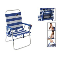 Chaise Pliante 117434 Blanc Bleu