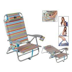 Cadeira de Campismo Acolchoada 118499 Alumínio Multicolor