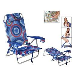 Cadeira de Campismo Acolchoada 118505 Azul