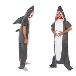 Costume per Adulti Squalo Grigio (1 Pcs) XL