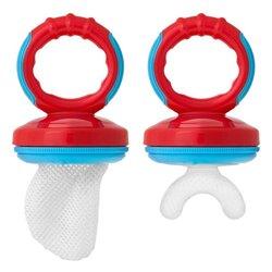 Massaggiagengive con Retina per Alimenti 2 X 1 Rosso Azzurro
