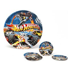 Set di 5 Piatti Hot Wheels Cartone 113660