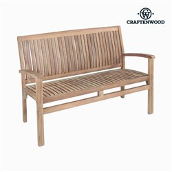 Banc avec Dossier Bali Teck by Craftenwood
