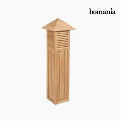 Windlicht Garten Teakholz by Homania