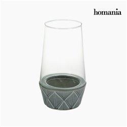 Candelabro Cerámica Cristal - Colección New York by Homania