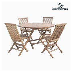 Tavolo con 4 sedie Tec Octogonal by Craftenwood