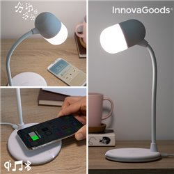 Lampada LED con Altoparlante e Caricabatterie Senza Fili Akalamp InnovaGoods